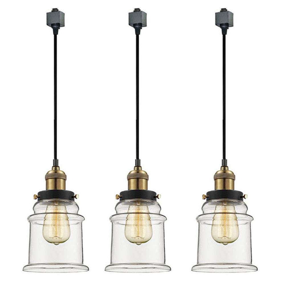 Track lighting fitting Circuit Kiven 3light System Track Lighting Pendants Clear Glass Shade Fitting Track Light Kit Tb021350cmbulb Included Amazoncom Aliexpress Kiven 3light System Track Lighting Pendants Clear Glass Shade