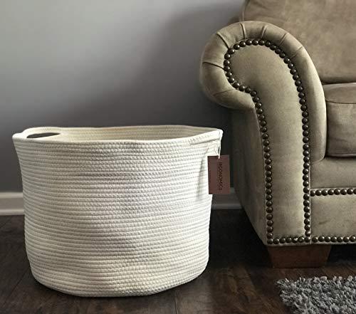 White Magnolia Handle - Cotton Rope Storage Baskets 23.6