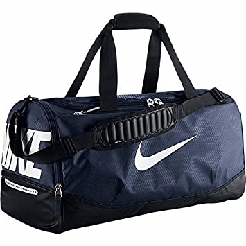 Nike Air Max Team Training Duffel Bag Medium Sports Holdall Gym Travel Bag  Navy d1cb27d7146f6