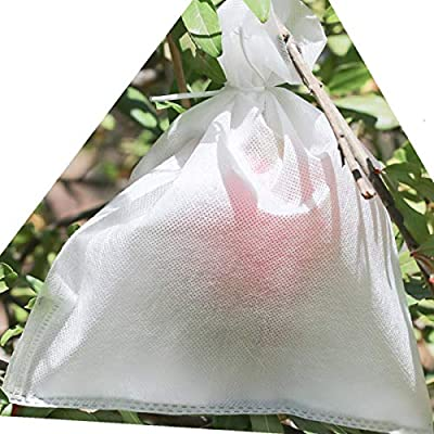 AllwaySmart Kids 100 Reusable Fabric Garden Fruit Protection Bags Insects Barrier Prevent Birds Bugs Flies. Easy Install with Twist Wire