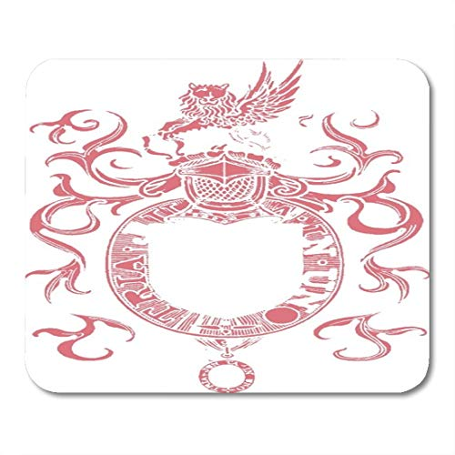 Nakamela Mouse Pads Clans Crest Family Shield Arms Heraldry Ages Badges Cherry Color Mouse mats 9.5
