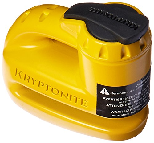 Kryptonite 000884 Keeper 5s Yellow Disc Lock (Best Lock For Vespa)