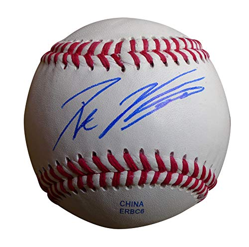 Los Angeles Dodgers Pat Venditte Autographed Hand Signed Baseball with Proof Photo of Signing, Toronto Blue Jays, Oakland Athletics, A's, New York Yankees, Seattle Mariners, Philadelphia Phillies, COA