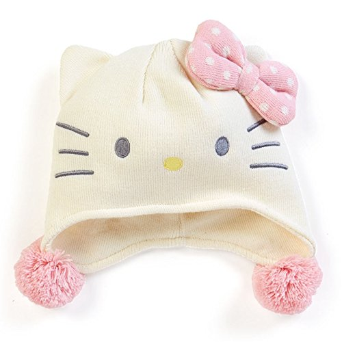 Hello Kitty Sanrio Japan Knit Pilot Hat Fit Adults and Youth
