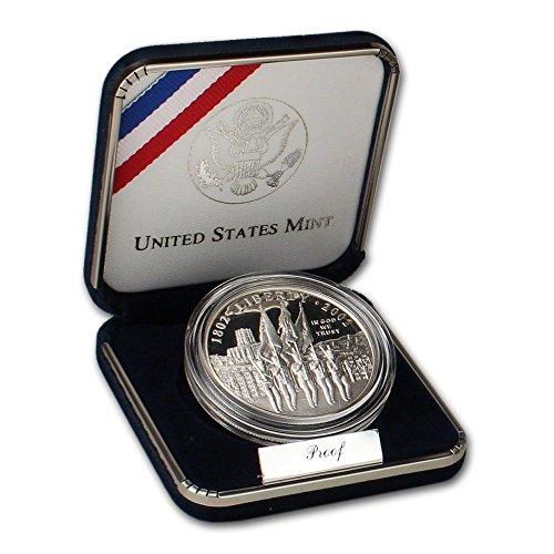 2002 W Silver US Military Academy Bicentennial Dollar West Point Dollar Proof US Mint