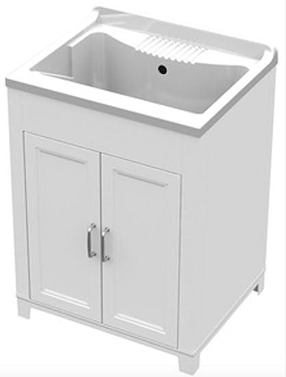 Lavatoio in resina antiacido mobile lavapanni per arredo bagno ...