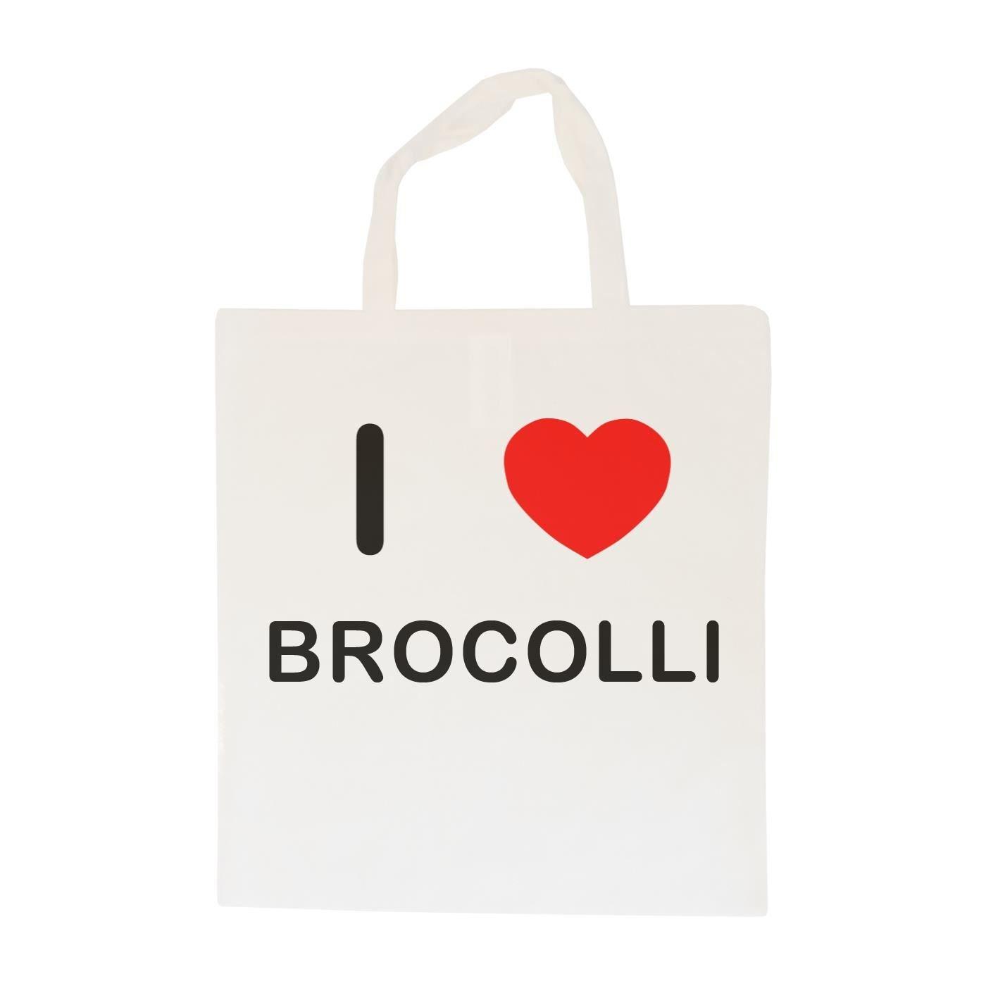 Cotton Long Handle Sling Bag I Love Brocolli