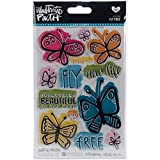 Bella BLVD Illustrated Faith Clear Acrylic Stamps Fly Free (6 Pack)
