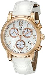 Tissot Women's T0502173611200 Dressport Mother of pearl Chronograph Dial Watch