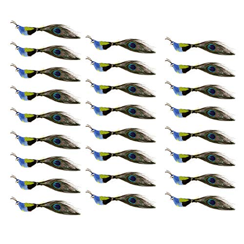 LOVIVER 25 PCS Artificial Foam Feathered Bird Ornaments with Long Tail, DIY Craft for Home Garden Lawn Decoration Party Accessories