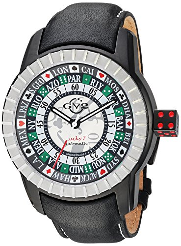 GV2-by-Gevril-Mens-Lucky-7-Automatic-Stainless-Steel-and-Leather-Casual-Watch-ColorBlack-Model-9308