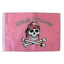 """Pirate Princess - 12"""" x 18"""" Pirate Flag"""
