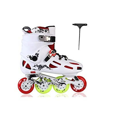 Sljj Outdoor Women's Comfortable Breathable Fitness White Inline Skates Combo,High Performance Speed Roller Skates for Beginner and Youth (Color : D, Size : 40 EU/7.5 US/6.5 UK/25cm JP): Home & Kitchen