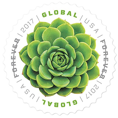 USPS Global Stamp: Green Succulent (1 Sheet (10 - Time Usps Letter Shipping International