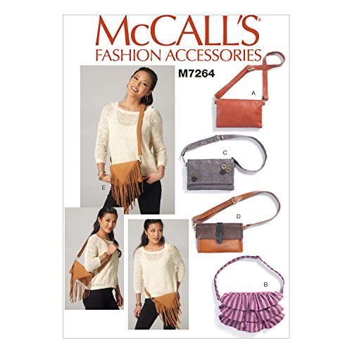 McCall's Patterns M7264 Waist Purses with Convertible Strap, One Size