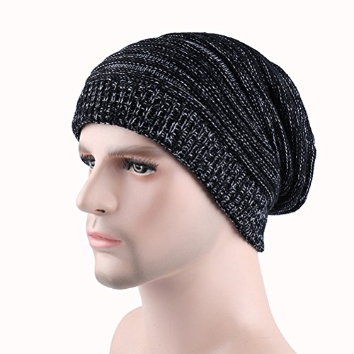 Men's Ski de Black Winter Cap Thick Cable Knit Skull Women's Warm Beanie Zhhlaixing Slouchy Gorros Hat punto qwq6tC