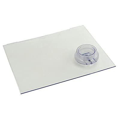 "Lippert 239061 Screen Door Slider Panel with Push-Down Knob Opener 12 "" x 9.75"" Clear: Automotive"
