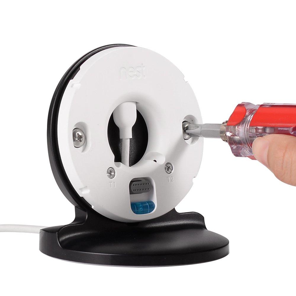 Tischhalterung f/ür Nest Thermostat 3 Generation BWORPPY St/änder Halter