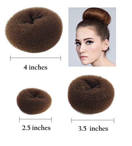 brown hair bun maker - 1