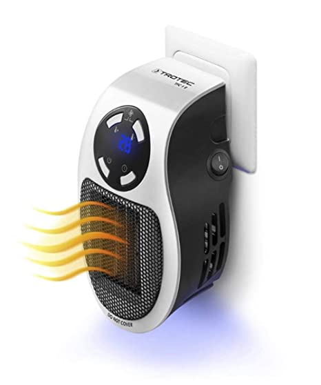 Snowx Estufa Eléctrica Calefactor Mini Portátil Handy Heater 500W Bajo Consumo Temperatura Regulable Baño Casa Oficina