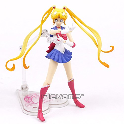 SHFiguarts Sailor Moon Tsukino Usagi 20th Anniversary PVC Action Figure Collectible Model Toy 15cm