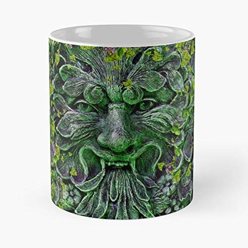 Herne The Hunter Green Man King Arthur Funny Floral Coffee Mugs Gifts]()