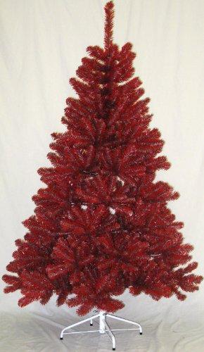 Ohio State 6FT Christmas Tree, Multi-Colored Team Tree With Stand (Scarlet & Gray) - Colored Christmas Trees