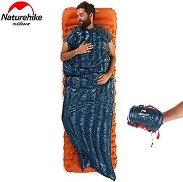 NatureHike Ultral/éger Enveloppe Sac de couchage en duvet doie Lazy Sac de couchage Camping Sacs 570g NH17Y010-R