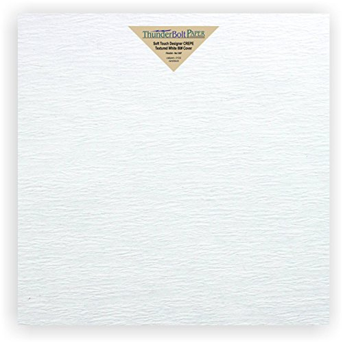 New Designer Scrapbook Album - 20 NEW Soft Touch Designer CREPE White Cover Paper 12 X 12 Inches, Thick 80lb Card Sheets - Premium Texture - Scrapbook Album Cover Size - Quality Textured, Flexible - Plain Blank Cardstock