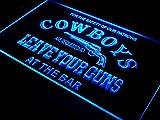 Cowboys Leave Guns Bar Beer LED Sign Neon Light Sign Display i783-b(c)