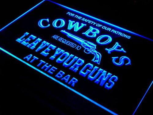 ADVPRO Cowboys Leave Guns Bar Beer LED Sign Neon Light Sign Display i783-b(c)