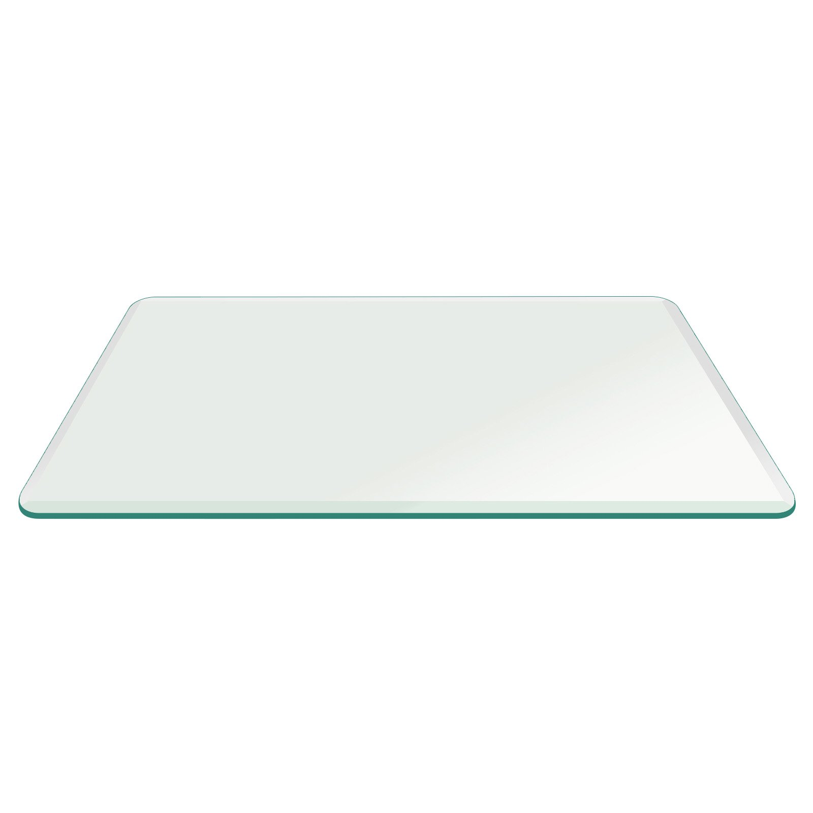 Fab Glass and Mirror 62'' Inch Round 1/2'' Thick Tempered Beveled Edge Polish Glass Table Top, Clear by Fab Glass and Mirror