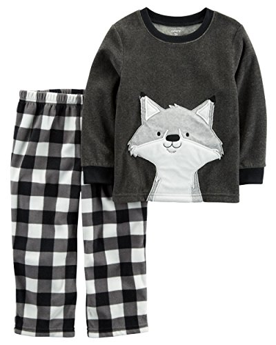 Carter's Little Boys' 2 piece Pajama Set (12 months, Grey Fox) (Christmas Boy Pajamas)