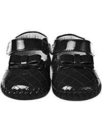 Black Patent Quilted Toddler Little Girls Shoes with Bracelet for Mom