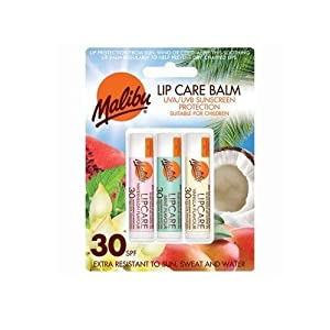 Malibu Blister Lipbalm with SPF30, Watermelon/ Mint/ Vanilla 12 ml