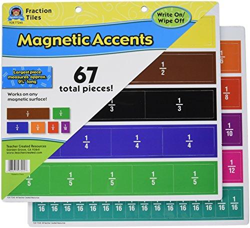 teacher created resources fracción azulejos magnético acentos (77245)