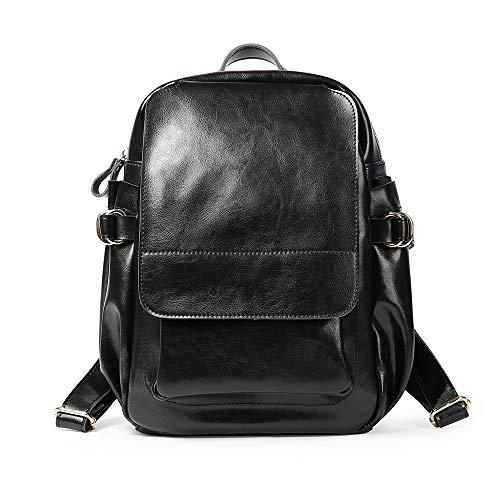 In Fine Settimana Per E Casual Donna Black Fs Moda black Donne Ragazze Daypack wg Zaino Da Vacanza Lavoro Adolescenti Viaggio Semplice Quotidiano Pelle CqX4HwX