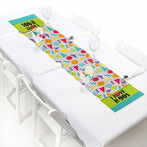 Big Dot of Happiness 90's Throwback - Petite 1990s Party Paper Table Runner - 12