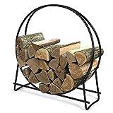 Goplus 40 Inch Firewood Log Rack Hoop Tubular Steel Wood Storage Holder for Indoor & Outdoor