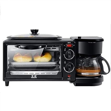 Mini horno eléctrico 3 en 1 1100 W, incluye cafetera | Horno ...