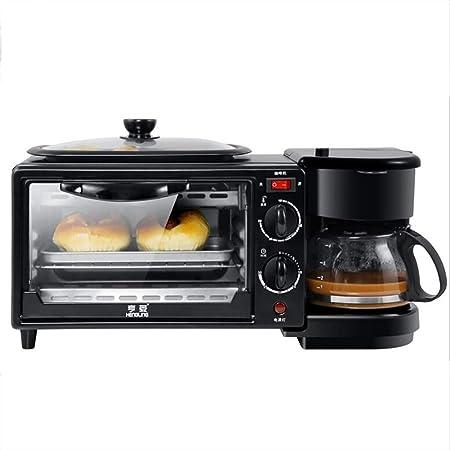Mini horno eléctrico 3 en 1 de 1100 W, que incluye cafetera ...