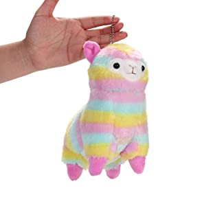 SunnyGod Peluche 18 CM Colorido Kawaii Alpaca Llama Arpakasso Suave Peluche de Juguete Muñeca de Regalo de Regalo Juguetes Lindos Regalo de Los Niños