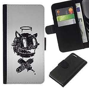 All Phone Most Case / Oferta Especial Cáscara Funda de cuero Monedero Cubierta de proteccion Caso / Wallet Case for Apple Iphone 5C // Funny Retro Abstract Face