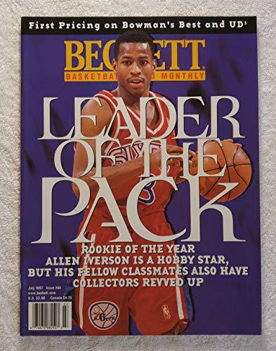 Allen Iverson - Philadelphia 76ers - Beckett Basketball Monthly Magazine - #84 - July 1997 - Back Cover: Eddie Jones (Los Angeles Lakers)