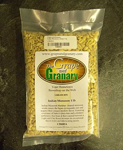 Indian Monsoon unroasted Coffee Beans (1LB)