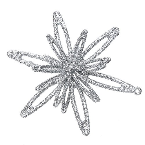 - Whitelotous Fashion Shiny 3D Flower Decor Glitter Ornament Christmas Tree Decoration