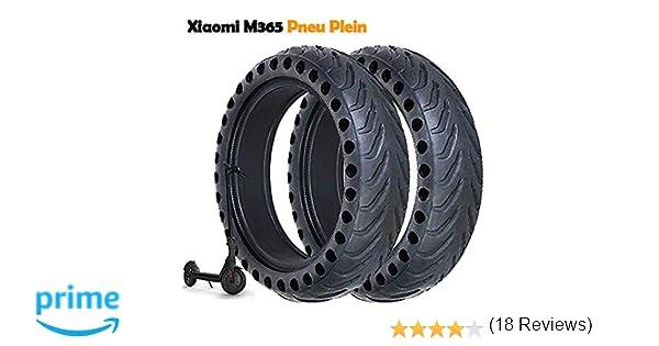 Llanta Compatible con Xiaomi M365, Rueda Antideslizante Xiaomi M365 Neumático de 8,5 Pulgadas Llanta de Repuesto sólido para llanta ...