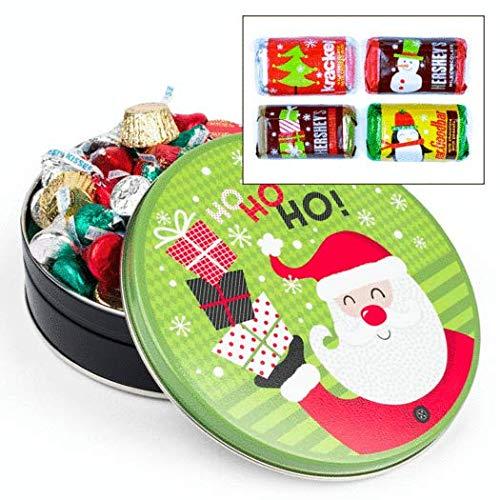 Santa Claus Christmas Gift Tin 3/4 lb Hershey's Chocolate Holiday Mix Tin (Tin Santa Christmas)