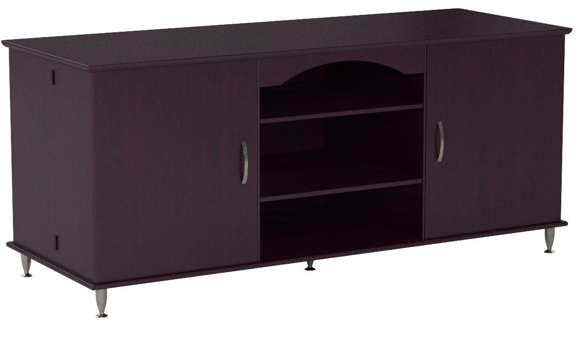 Broadway Black Large Flat Screen Plasma or LCD TV Stand Media Storage Cabinet Entertainment Center with Doors by Broadway