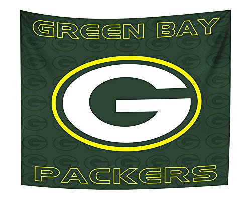 Gloral HIF Green Bay Packers Tapestry Room Decor Hanging Decals Blanket 50x60 Inches